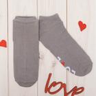 """Носки укороченные """"Love"""" р.36-40 (23-25 см), серый"""