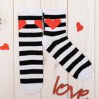 """Носки """"Love"""" р.36-40 (23-25 см), чёрный/белый"""
