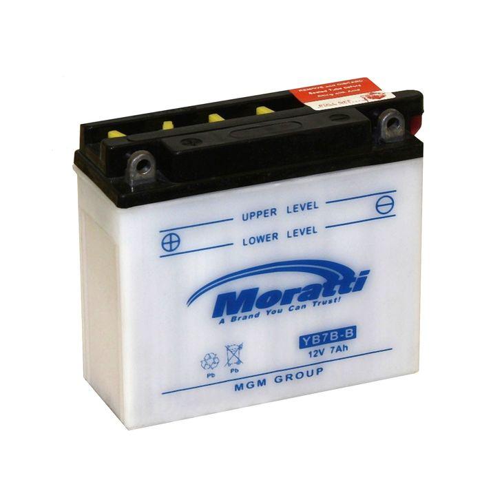 Аккумуляторная батарея Moratti 7 Ач YB7B-B, прямая полярность