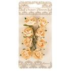 Цветы розы из бумаги (набор 8 шт) персиковые
