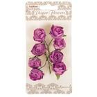 Цветы розы из бумаги (набор 8 шт) сиреневые