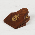 "Business card holder wood ""Anchor"" 8x6,5x3,5 cm"