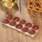 """Набор свечи в гильзе """"Платинум"""" 10 шт шоколад 18,5х7,5х1,2 см"""