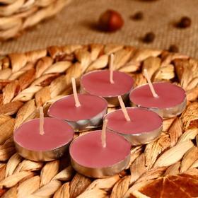 """Набор свечи в гильзе """"Платинум"""" 6 шт дыня 10х6х1 см"""