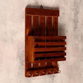 """Ключница дерево """"Открытая"""" 5,5х15х25 см"""