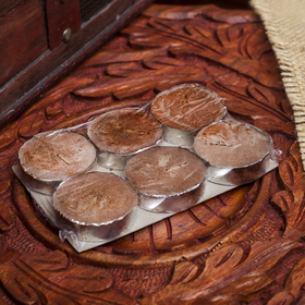 """Набор свечи в гильзе """"Платинум"""" 6 шт шоколад 10х6х1 см"""