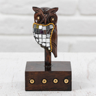 "Souvenir wood ""Black owl"" 12х7х7 cm"