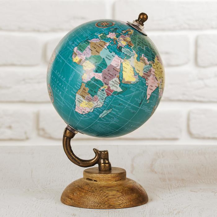 """Сувенир глобус """"Океаны"""" 12,5х12,5х21,5 см"""