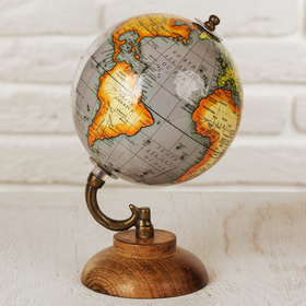 Сувенир глобус 'Горы' 12,5х12,5х21,5 см Ош