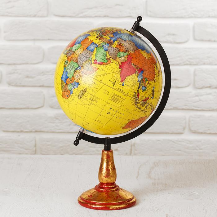 """Сувенир глобус """"Яркая мечта"""" 22х22х35 см"""