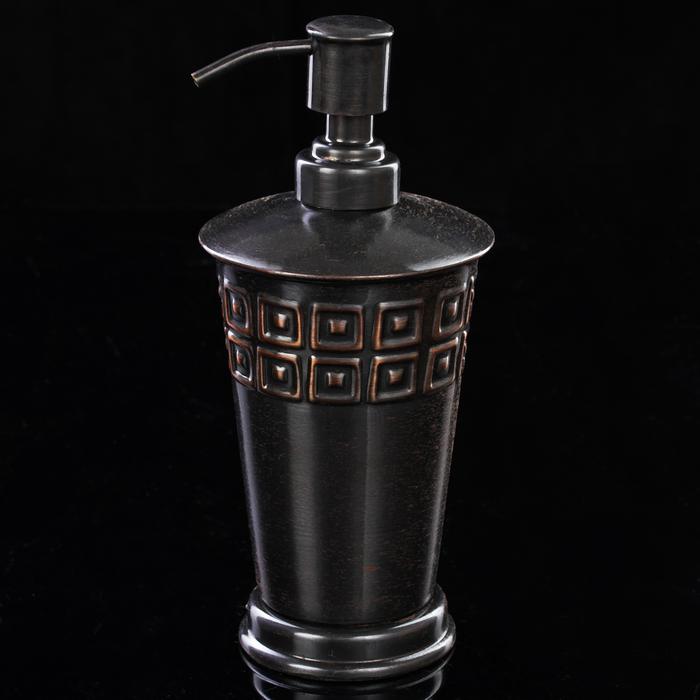 """Дозатор из нержавеющей стали """"Орнамент"""" 10х10х20 см"""