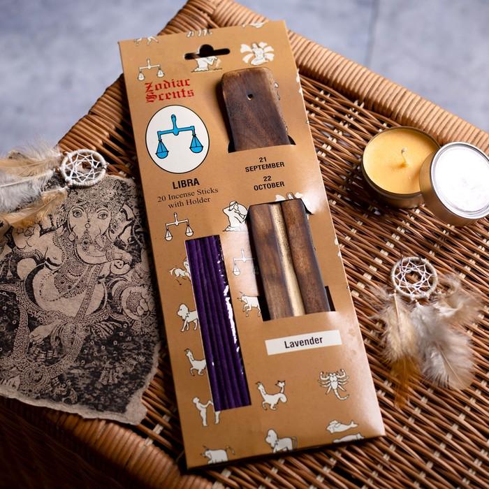 """Ароманабор ароматы зодиаков """"Весы"""" (20 палочек с деревянной подставкой)"""