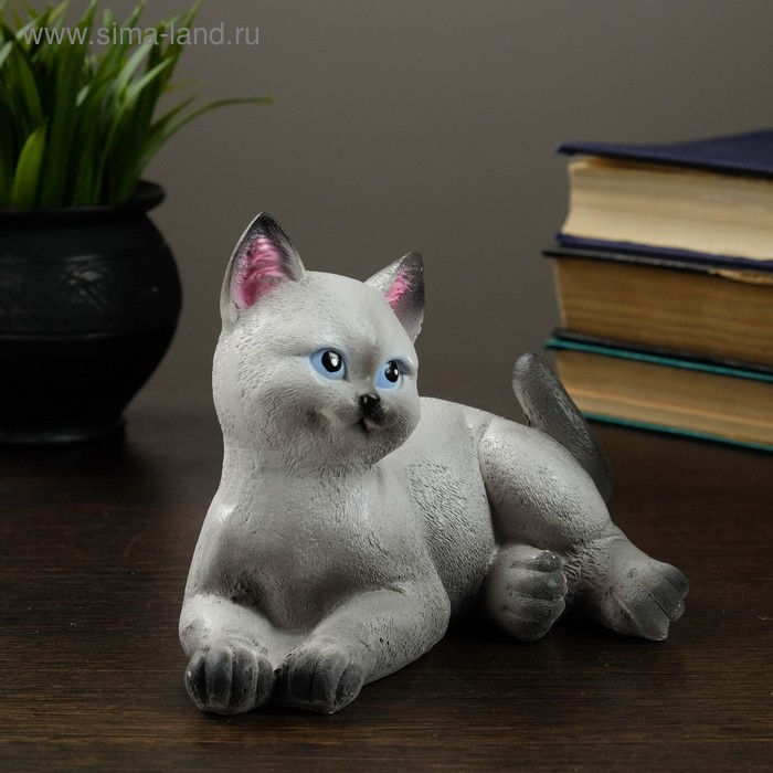 """Сувенир """"Котенок"""" серый"""