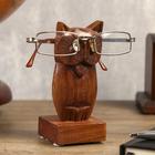 """Подставка под очки """"Сова"""" дерево 7,5х7,5х14 см"""