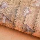 Бумага упаковочная крафт «Гирлянда из сердечек», 50 х 70 см