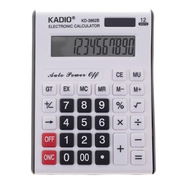 Калькулятор настольный, 12-разрядный, 3862B, двойное питание