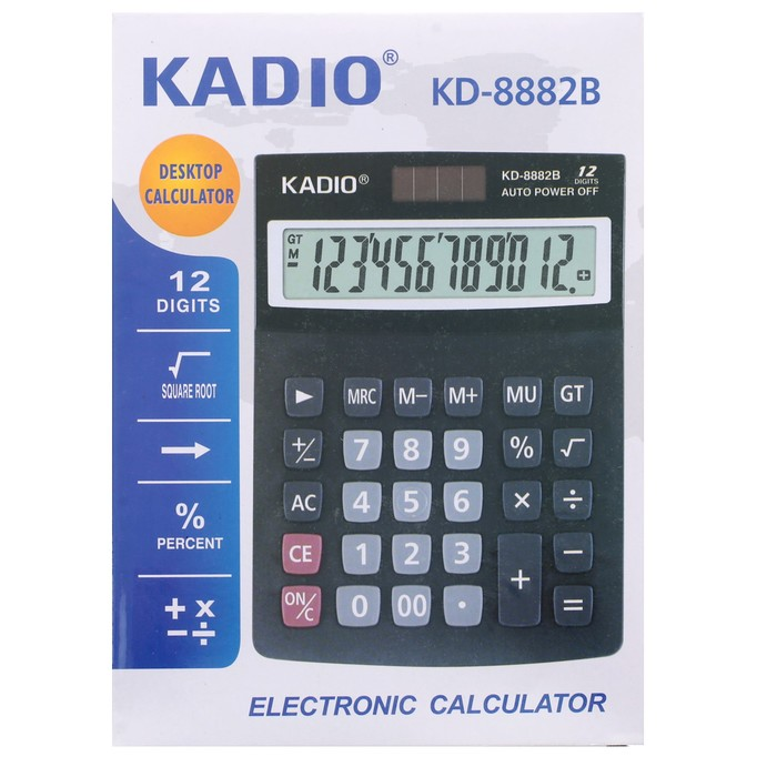 Калькулятор настольный, 12-разрядный, 8882B - фото 515416799