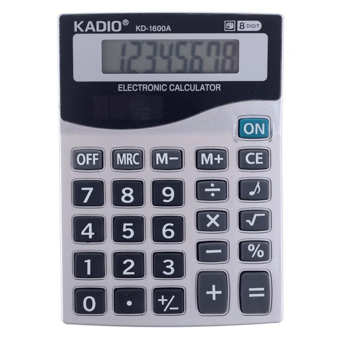 Калькулятор настольный, 8-разрядный, 1600A, двойное питание - фото 545242618