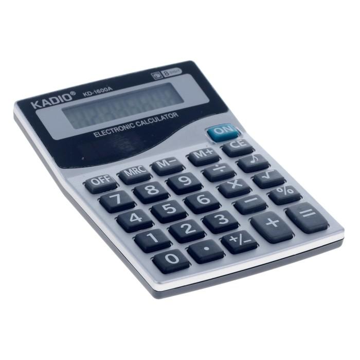 Калькулятор настольный, 8-разрядный, 1600A, двойное питание - фото 545242619
