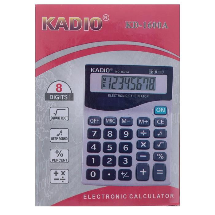 Калькулятор настольный, 8-разрядный, 1600A, двойное питание - фото 545242623