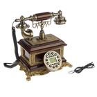 Телефон ретро полистоун. Постамент вытянутый прямоугольный 21,5*16 см
