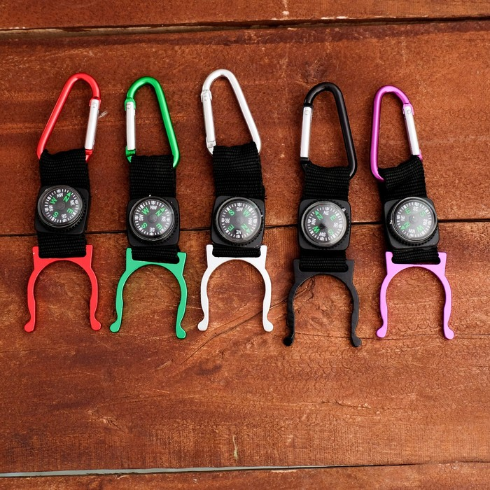 Карабин с компасом и держателем для бутылок микс 12*13 см