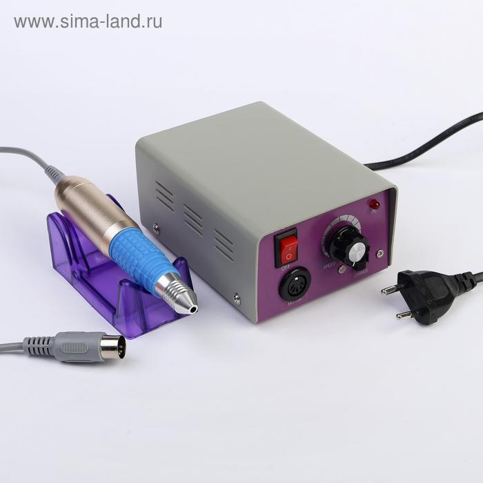 Машинка для маникюра LuazON LMH-03, 12 Вт, педаль, 6 насадок, 25000 об/мин.