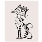 "Татуировка на тело ""Кошечка с розой"" 5,6х12 см"