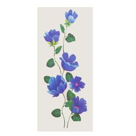 """Татуировка на тело """"Синие цветы"""" 5,5х12 см"""