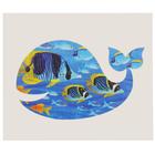 """Татуировка на тело """"Синий кит"""" 5,6х12 см"""