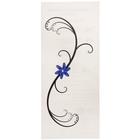"Татуировка на тело ""Узор с синим цветком"" 5,6х12 см"