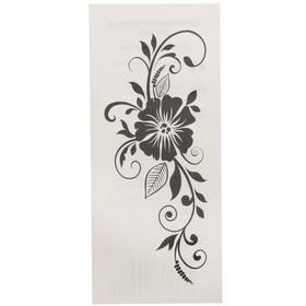 """Татуировка на тело """"Узор с черным цветком"""" 5,5х12 см"""