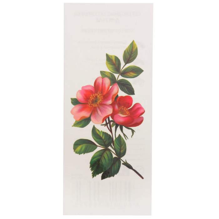 "Татуировка на тело ""Цветок яблони"" 5,6х12 см"