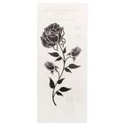 "Татуировка на тело ""Черная роза"" 5,6х12 см"