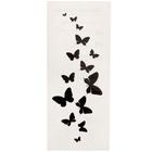 """Татуировка на тело """"Черные бабочки"""" 5,6х12 см"""
