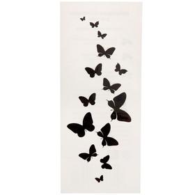 """Татуировка на тело """"Черные бабочки"""" 5,5х12 см"""