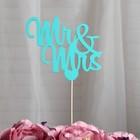 Топпер «Mr&Mrs», мятный, 11х9,5 см