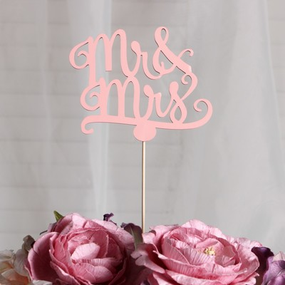 Топпер «Mr&Mrs», розовый, 11х9 см
