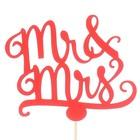 Топпер «Mr&Mrs», красный, 11х9 см