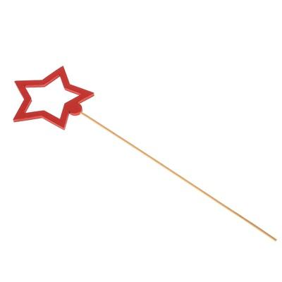 Топпер «Звезда», красный, 7,5х7 см