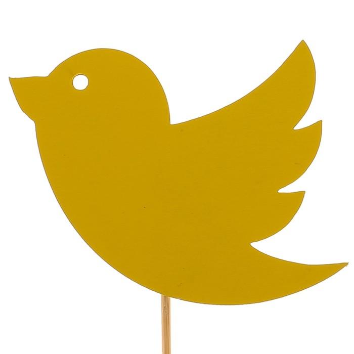 Топпер «Птичка», жёлтый, 7,5х6 см