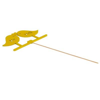 Топпер «Птички Mr&Mrs», жёлтый, 12,5х7,5 см