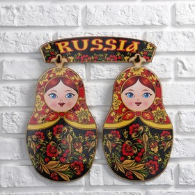 A set of boards Matryoshka, Khokhloma, gift, 3 item Board size 17 x 28 cm