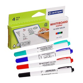 Centropen 2709 Marker Set for Whiteboard, 4 colors, 1.8 mm