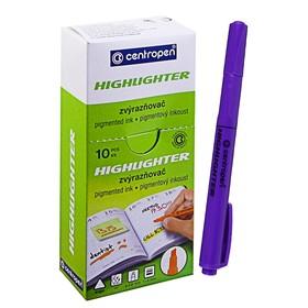 Маркер-текстовыделитель, Centropen 8722, 4.0 мм, флуоресцентный, фиолетовый