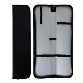 Пенал для кистей, 380 x 90 мм, искусственная кожа, ФК-3, чёрный