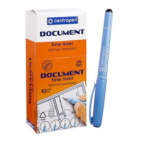 """Ручка капиллярная Centropen """"Document"""" 2631, 0,5 мм, длина письма 500 м, черная"""