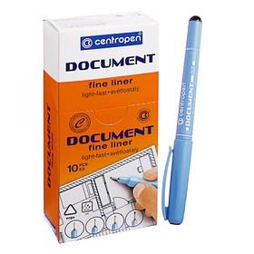 """Ручка капиллярная Centropen """"Document"""" 2631, 0,7 мм, длина письма 500 м, черная"""