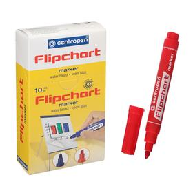 Flipchart marker beveled 6.0 mm Centropen 8560 FLIPCHART red