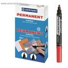 Маркер перманентный скошенный 1.0-4.6 мм Centropen 8576 красный